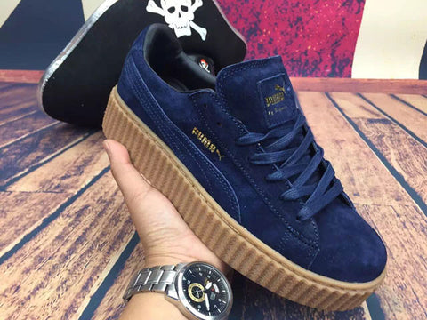 lowest price 3ca1b 8a83c Puma Navy Creepers breakingthesurface.co.uk