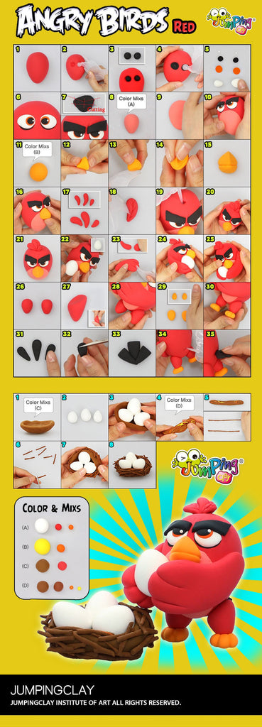 Kids Clay Craft Project Ideas - Create an Angry Bird