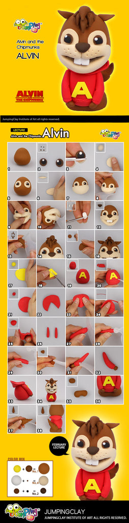 Create Alvin - kids clay projects
