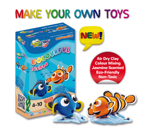 Colourful Fish - Kids Craft Kit - Make Your Own Toys