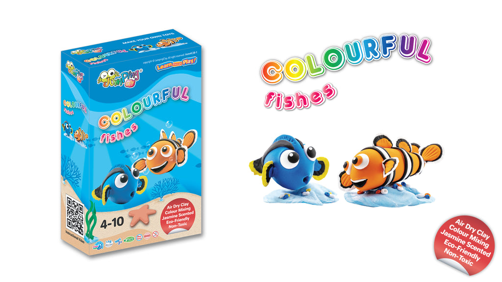 Kids Air Drying Clay Craft Kit | Make Your Own Toy Fish