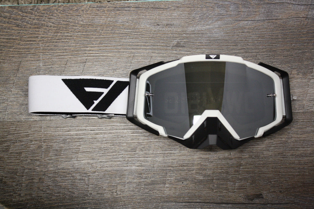 New Black and White Rythem Motocross Goggles In Stock!!!!!