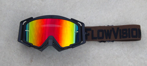 Flow Vision Rythem™ Motocross Goggle: Brown/Black