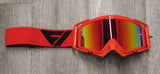 Flow Vision Rythem™ Motocross Goggle: Red/Black