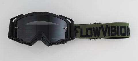 Flow Vision Rythem™ Motocross Goggle: Army Green/Black