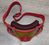 Flow Vision Rythem™ Motocross Goggle: Coral/Crimson
