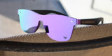 Flow Vision Rythem™ Sunglasses: Amatista (Black/Purple)