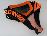 Flow Vision Rythem™ Motocross Goggle: Black/Orange