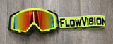 Flow Vision Rythem™ Motocross Goggle: Flo Yellow/Black