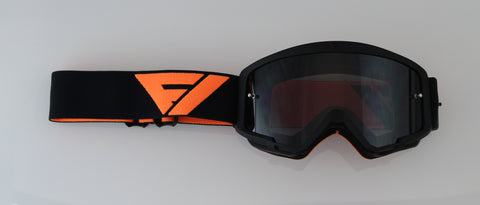 Flow Vision Youth Section™ Motocross Goggle: Black/Orange