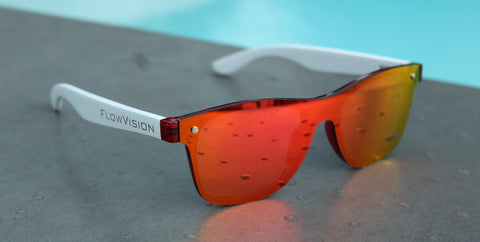 Flow Vision Rythem™ Sunglasses: Hotshot(Red/White)