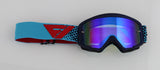 Flow Vision Youth Section™ Motocross Goggle: Reflex/Cyan/Red