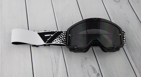 Flow Vision Youth Section™ Motocross Goggle: Black/White