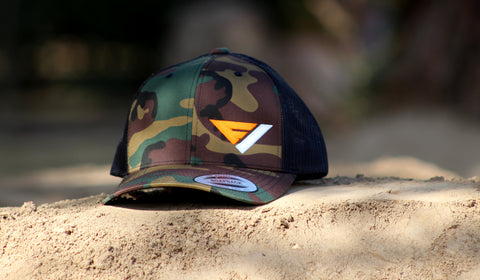 Flow Vision® Logo Snapback: CAMO Orange
