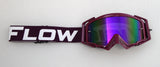 Flow Vision Rythem™ Motocross Goggle: Purple/White