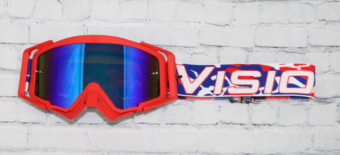 Flow Vision Rythem™ Motocross Goggle: The Patriot