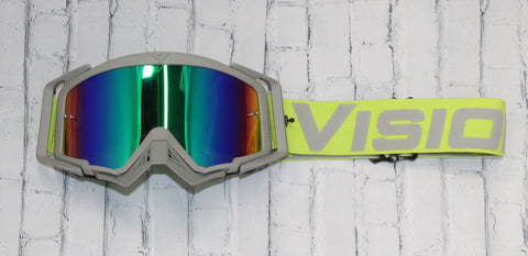 Flow Vision Rythem™ Motocross Goggle: Acid Green/Grey