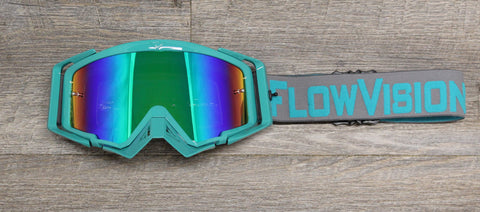 Flow Vision Rythem™ Motocross Goggle: Grey/Teal
