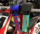 Flow Vision Rythem™ Motocross Goggle: Haze Blue/Cyan/Red
