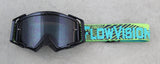 Flow Vision Rythem™ Motocross Goggle: Haze Black/Acid/Grey