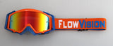 Flow Vision Rythem™ Motocross Goggle: Orange/Blue
