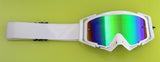 Flow Vision Rythem™ Motocross Goggle: White Out