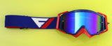 Flow Vision Rythem™ Motocross Goggle: Blue/Red Merica