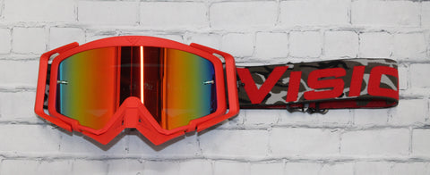 Flow Vision Rythem™ Motocross Goggle: Camo Red