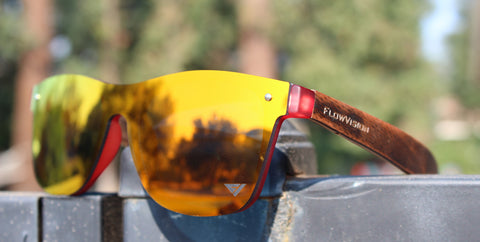 Flow Vision Rythem™ Sunglasses: Red/Orange