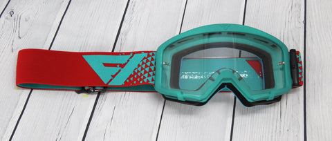 Flow Vision Youth Section™ Motocross Goggle: Teal/Red