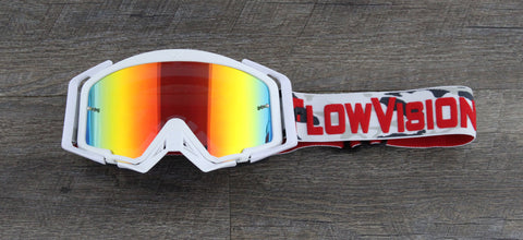 Flow Vision Rythem™ Motocross Goggle: Whiteout Camo