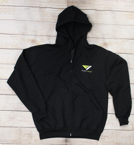 FlowVision Corpo Zip-Up Hoodie: Black