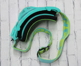 Flow Vision Rythem™ Motocross Goggle: Tiffany/Acid Green