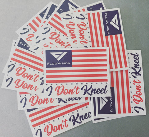 Flow Vision™ I Don't Kneel Stickers