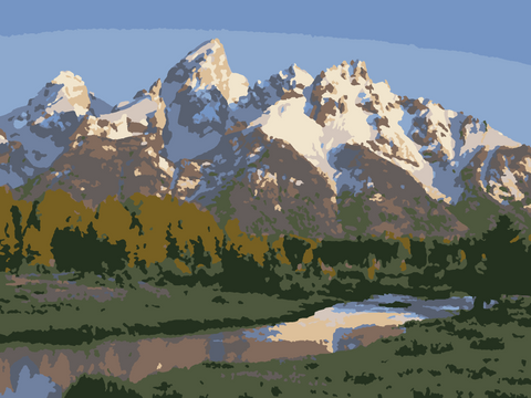 Grand Teton Paint by Number- Slate