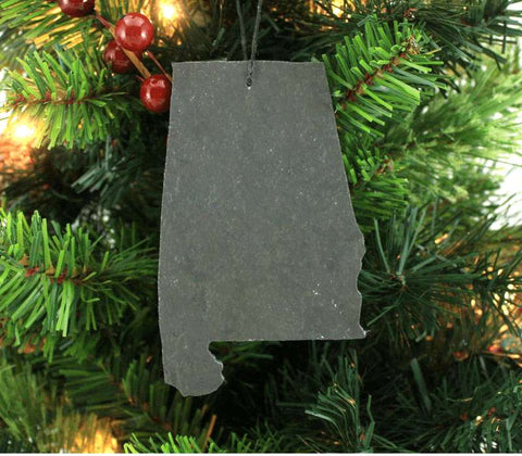 Alabama Slate Christmas Ornament- Personalized with Laser Engraving