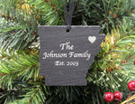 Arkansas Slate Christmas Ornament