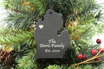 Michigan Slate Christmas Ornament