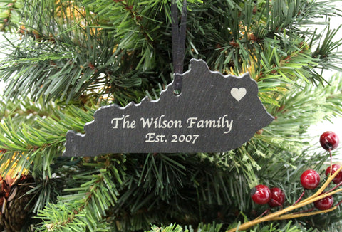 Kentucky Slate Christmas Ornament
