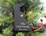 Delaware Slate Christmas Ornament