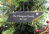 Tennessee Slate Christmas Ornament