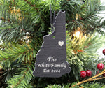 New Hampshire Slate Christmas Ornament