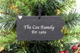 Pennsylvania Slate Christmas Ornament
