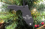 Florida Slate Christmas Ornament