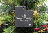 Utah Slate Christmas Ornament