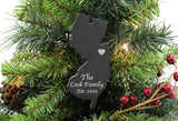 New Jersey Slate Christmas Ornament