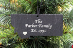 Montana Slate Christmas Ornament- Personalized with Laser Engraving