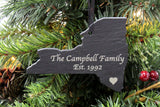 New York Slate Christmas Ornament- Personalized with Laser Engraving