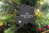 Alaska Slate Christmas Ornament