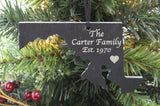 Maryland Slate Christmas Ornament- Personalized with Laser Engraving